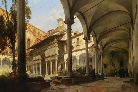 57-Pazzi_Chapel_of_Santa_Croce_Carl_Georg_Anton_Graeb_1816-1884__Yard_With_The_Pazzi_Chapel_Of_St.Croce_In_Florence__1858.jpg